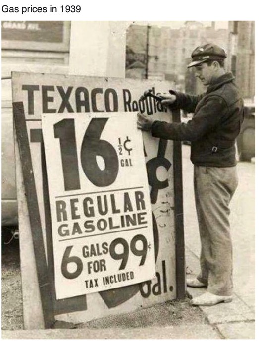Gas at 19 1:2 cents j